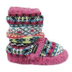 Muk Luks Scrunch Boot Pink -Kids