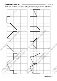 Math Symmetry Activities On Pinterest Geometry