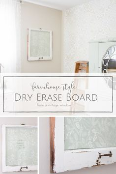 Youngsters Area Home Furnishings This Farmhouse Style Diy Dry Erase Board Took Just Seconds To Make, But It's Such A Pretty Way To Stay Organized And On Top Of Things Cool Diy Projects, Home Projects, Home Crafts, Diy Crafts, Farmhouse Style, Farmhouse Decor, Farmhouse Office, Decorating Your Home, Diy Home Decor