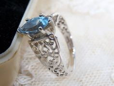 Swiss Blue Topaz & Sterling Silver Ring  by UrbanRenewalDesigns
