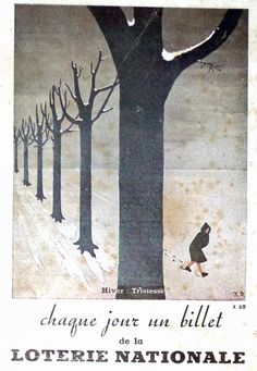 Vintage , old ads , France 1943 , anciennes publicités, loterie nationale