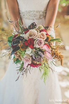 Fabulous Fall Bouquet! Designed by www.theposhposey.com . Images by http://krishollandphotography.com