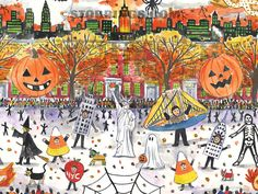New York City. Annual West Village Halloween Parade as seen in New York in Four Seasons.