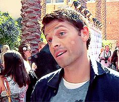 Misha Collins.  I love it when he does this!  Seems to happen often