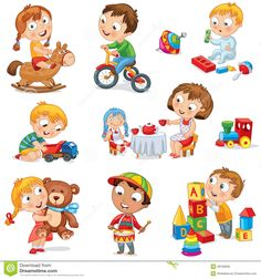 Children play with toys. Little girl riding a wooden horse, hugging a teddy bear , Baby Cartoon, Cartoon Kids, Wooden Horse, Baby Learning, Preschool Activities, Cartoon Characters, Kids Playing, Little Girls, Teddy Bear