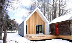 Warburg House - Architizer (farmhouse in Alberta, Canada. Simple, efficient, elegant, and a bargain for $100,000.)