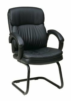 Work Smart Eco Leather Visitors Chair with Padded Arms and Sled Base by Work Smart. $114.99. Popular modern style sled base. Black eco leather visitors chair. Padded loop arms. Eco Leather Visitors Chair with Padded Arms and Sled Base, 15 year warranty on all non-moving metal parts, 5 year warranty on control mechanism and pneumatic cylinder, 3 year warranty on upholstery fabric and foam.. Save 59% Off!