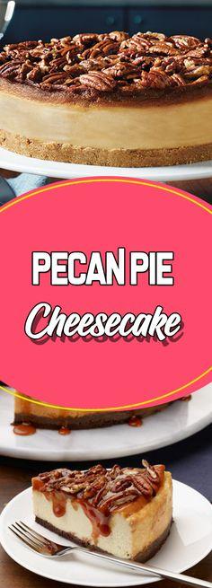 Pecan Pie Cheesecake #desserttable dessert table ideas #easyrecipes easy recipes #recipes recipes #dessert dessert ideas #dessertrecipes dessert recipes easy #appetizer appetizer recipes easy