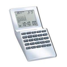 World Time Calender Alarm Clock And Calculator Desk Set With Pen Holder Fine Quality