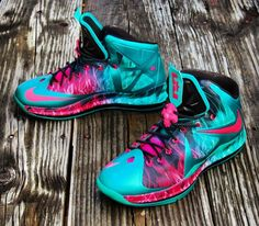 Nike LeBron 10 Zombie in South Beach Customs by Gourmet Kickz