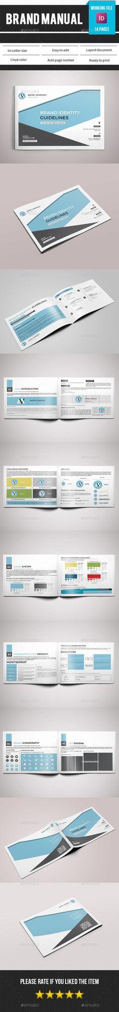 Brand Manual Template InDesign INDD. Download here: http://graphicriver.net/item/brand-manual-templatev04/14743329?ref=ksioks