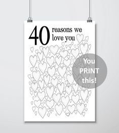 Birthday Party Guest Book Poster - Gift for Man, Birthday Gifts For Husband, For Him, Men, Birthday Gifts For Husband, Birthday Gift For Him, Anniversary Gifts For Him, 40th Birthday Parties, Birthday Woman, Birthday Book, 40th Birthday Ideas For Men Husband, 40th Birthday Presents, Birthday Wishes
