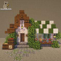 Minecraft Small House, Casa Medieval Minecraft, Minecraft Shops, Minecraft Cottage, Minecraft Castle, Minecraft House Tutorials, Cute Minecraft Houses, Minecraft House Designs, Minecraft Tutorial