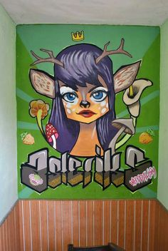 my roe deer woman character graffiti