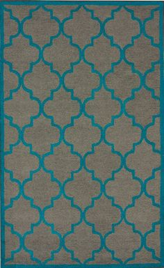 What if we did this on my bed frame. Black background and a pop of color to alternate??? @wanda king Rugs USA Satara Lattice Grey Rug