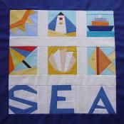 Sea beach nine paper pieced quilt blocks - via @Craftsy