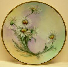Vintage Fritz Thomas Sevres Bavaria Porcelain Painted Gilded DAISY