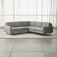Petrie 2-Piece Corner Sectional Sofa - Crate and Barrel