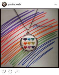 Cross Stitch Geometric, Tiny Cross Stitch, Cross Stitch Designs, Cross Stitch Patterns, Cross Stitching, Cross Stitch Embroidery, Hand Embroidery, 123 Stitch, Embroidery Jewelry