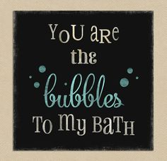 INSTANT DOWNLOAD - Printable Wall Art 12x12 Bubbles To My Bath on Etsy, $7.00