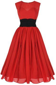 Lindy Bop 'Serena' Vintage 1950's Chiffon Bal Robe: Amazon.fr: Vêtements et accessoires