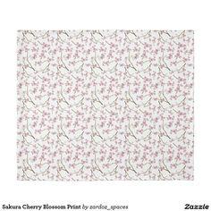 Sakura Cherry Blossom Print Duvet Cover #sakura #cherryblossom #cherryblossoms #pattern #spring #summer #blossom  #duvet #duvetcover #blanket