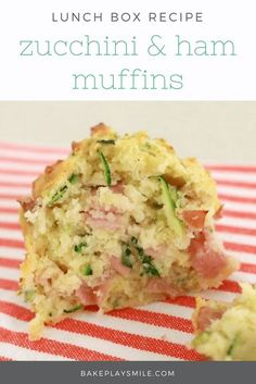 Zucchini & Ham Muffins 2019 These Zucchini & Ham Muffins are the perfect savoury snack. Quick easy and tasty pop them into lunch boxes for a yummy school lunch! The post Zucchini & Ham Muffins 2019 appeared first on Lunch Diy. Lunch Box Recipes, Lunch Snacks, Savory Snacks, Baby Food Recipes, Gourmet Recipes, Healthy Snacks, Cooking Recipes, Healthy Recipes, Lunch Kids