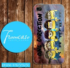 one direction minion case for iphone 4 caseiphone  4s by FreenCase, $15.55