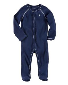 Ralph Lauren Childrenswear Infant Boys' Layette Solid Coverall - Sizes 3-9 Months | Bloomingdale's