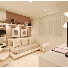 Amei esta idéia para quarto! Multifuncional, pode ser usado como quarto de hóspedes, home Office ou sala íntima para tv. Regram do IG @casa_casada ! #olioliteam #inspiration #interiordesign #decor