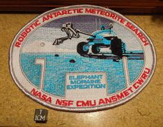 ANSMET 26 Patch - genuine NASA patch from the 2002 field season. Autonomous robot search for meteorites at Elephant Moraine Antarctica. Not for sale.