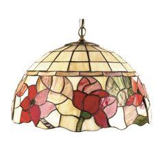 Oaks Lighting Border Tiffany Ceiling Pendant