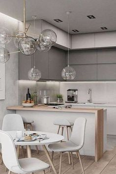 39 Small Kitchen Designs ideas with Cute and Stylish Designs image no 29 .Different and interesting kitchen design, kitchen ideas, kitchen remodel, kitchen decor, kitchen organization #kitchendesign #kitchenremodel #kitchenorganization