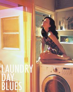 Oh, just another day in the laundry room.     What the photo isn't showing is that this chick actually think she's a cat. lol!