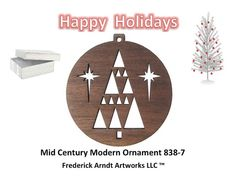 Mid Century Modern Ornament 8387 by FredArndtArtworks on Etsy, $14.95