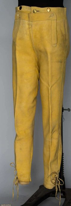 British Consul's Leather Breeches, Boston, 1790s, Augusta Auctions, November 13, 2013 - NYC, Lot 191