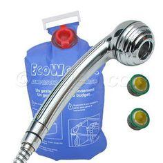 Pour économiser l'eau de la douche, des WC et aux robinets, ce kit économies d'eau comprend une douchette économique Novolence chromée, un sac économiseur d'eau pour le réservoir des toilettes et deux cartouches à débit réduit pour mousseur robinet. A découvrir sur http://www.cieleo.com/s/26162_128624_kit-economiseur-eau-super-eco-chrome