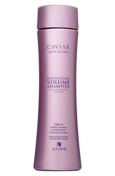ALTERNA® 'Caviar Anti-Aging' Bodybuilding Volume Shampoo ~ This stuff is AMAZING. I've had it for almost 3 months... I don't have to wash my hair every day after using it.
