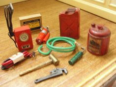 Dollhouse Miniature Assortment of Garage Tools