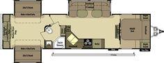 Open Range Roamer Travel Trailer. Excellent bunkhouse floorplan!