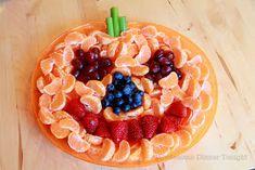 Jack-'O-Lantern Fruit Plate
