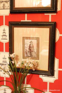 bathroom decorating ideas - Thibaut wallpaper