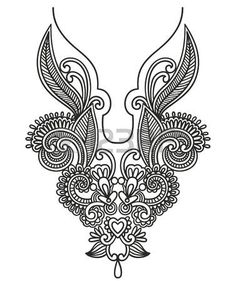 Illustration of Neckline embroidery fashion. Ukrainian traditional pattern vector art, clipart and stock vectors. Embroidery Neck Designs, Shirt Embroidery, Machine Embroidery Patterns, Embroidery Fashion, Beaded Embroidery, Embroidery Stitches, Corset Sewing Pattern, Lace Tattoo Design, Vine Tattoos