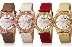 Akribos kristallen dames horloge