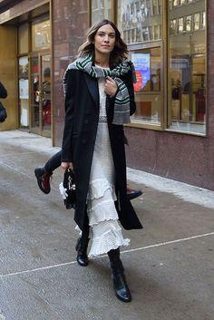 Alexa Chung at New York Fashion Week Fall 2017