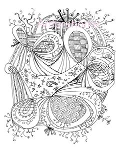 Image detail for -Zentangle Coloring Page, Printable, Download, PDF or JPEG, Hippie Art ...