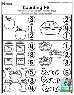Counting 1-5! Tons of great printables to help master basic skills!