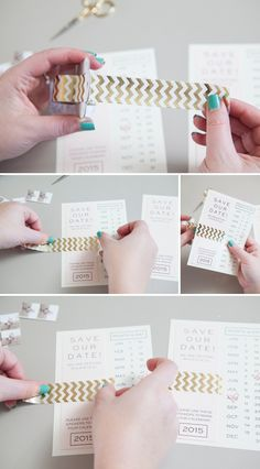 DIY - Instagram Save the Date invitations with Free printables! Would also be cute for party invitations
