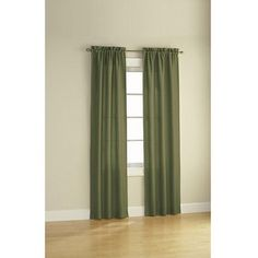 Mainstays Sailcloth Curtain Panel, Set of 2, Green