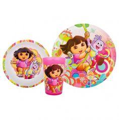 Dora  the Explorer 3pc Mealtime Set